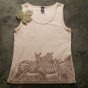Gap Tank with Zebra motif